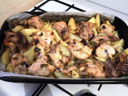 Как сделать курицу и грибы
