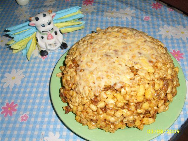 Торт муравейник с кукурузные палочки рецепт фото