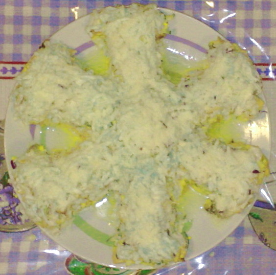 Салат снежинка с фото