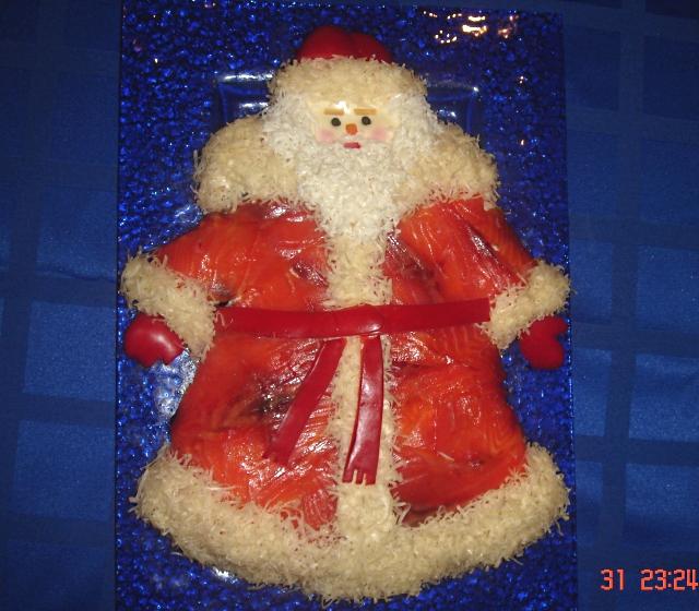 Салаты дед мороз с фото