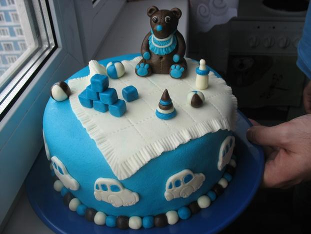 Торт детский на 1 месяц фото