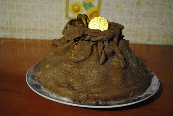 первом торт мешочек с монетами фото немецких