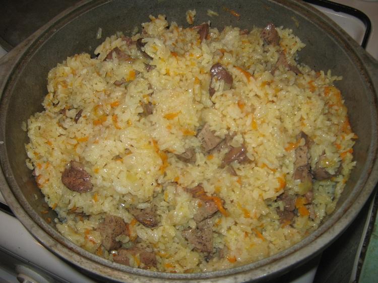 Рецепт куриная печень с рисом в мультиварке