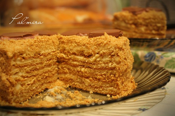 Торт рыжик рецепт с заварным кремом пошагово