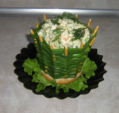 salad onion basket