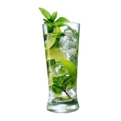 Рецепт. с. Алкогольные напитки.  1/3 пучка (30 г). лайм - 1 половинка.